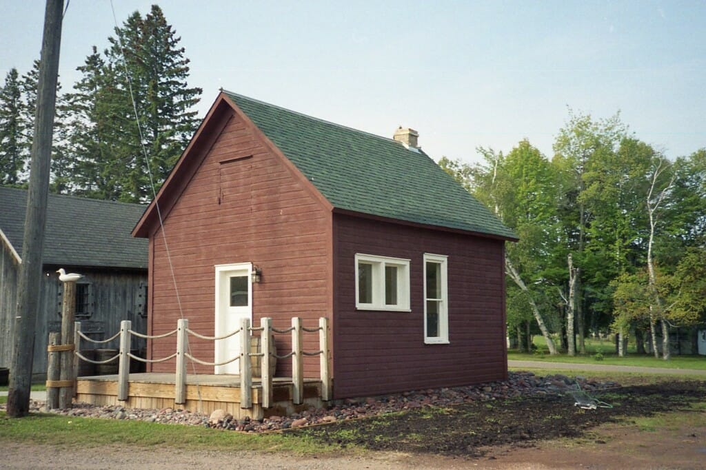 Restored Booth building on museum grounds